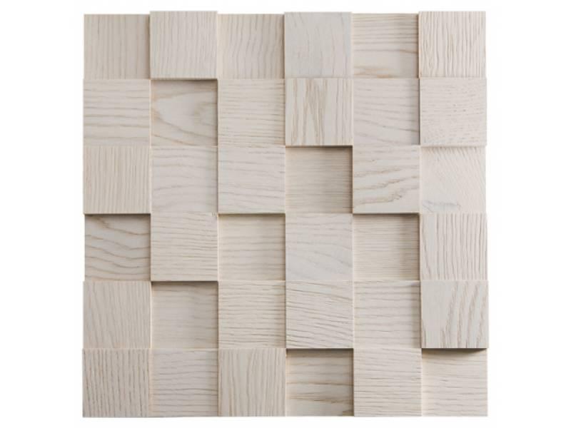 Mosaici in legno per rivestimento pareti for Pareti bianco perla